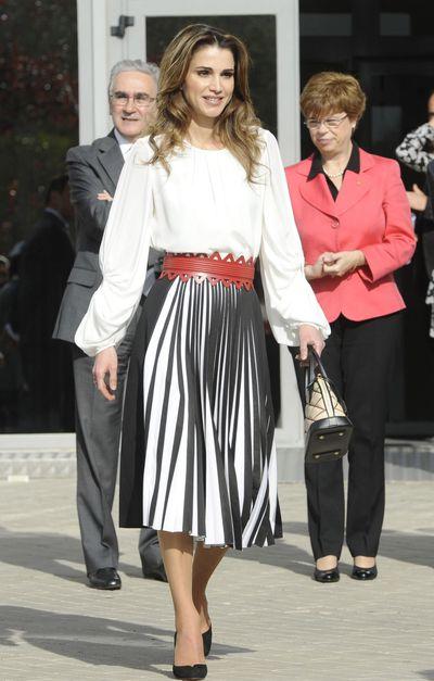 Queen Rania of Jordan in Madrid, November 2015