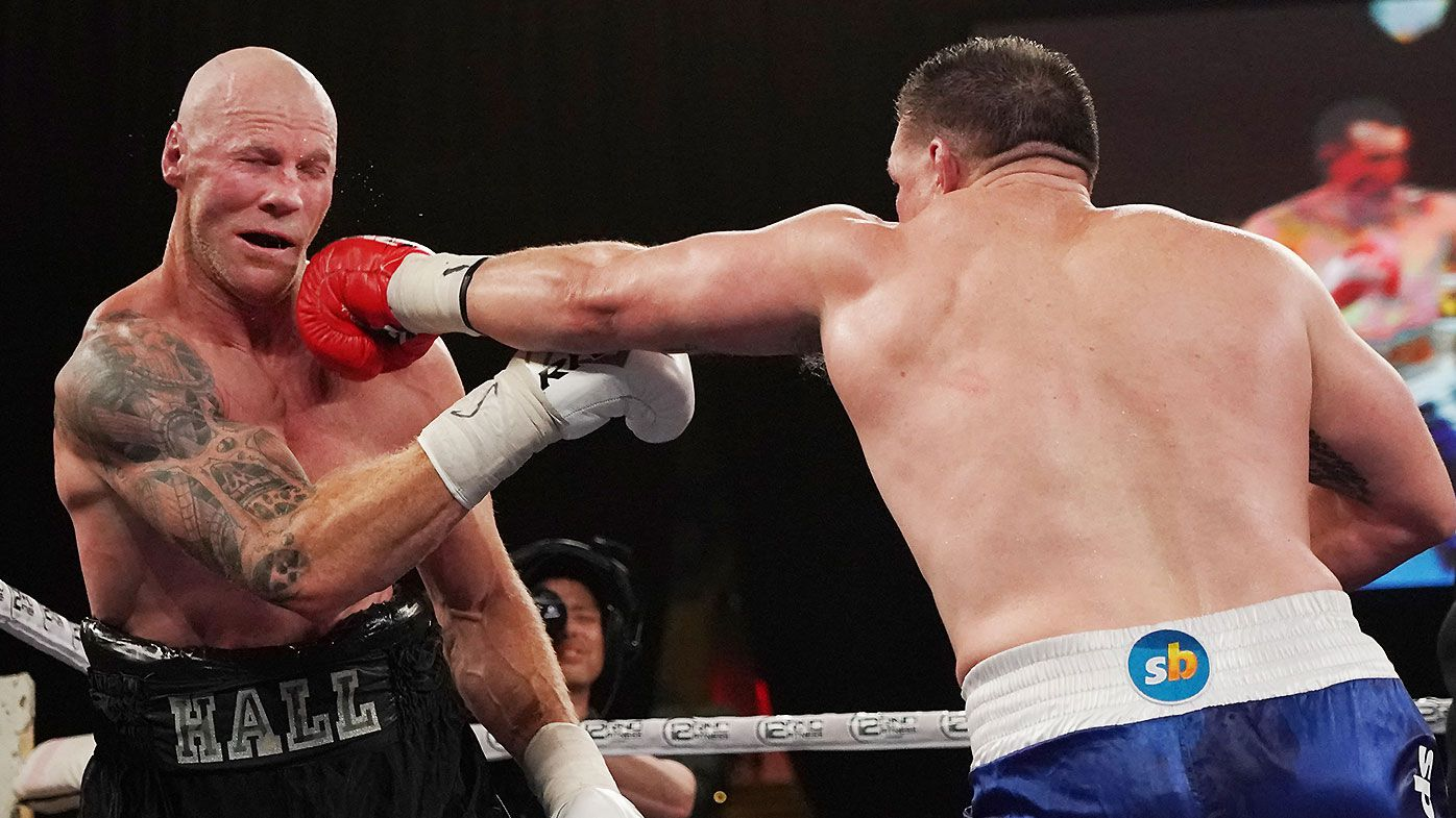 Boxing fans react to 'rubbish' Gallen v Hall 'Code War' draw, as NRL legend accused of 'dirty' tactic
