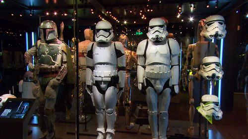A huge display of Star Wars memorabilia has just been unveiled at Sydney's Powerhouse Museum.