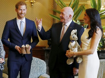 The royals receive their first official baby gifts in Sydney, October 2018