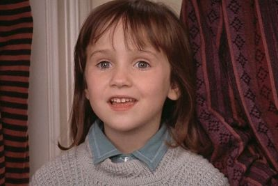 THEN: Mara Wilson was five when she played Nattie, the youngest daughter of Daniel (Robin Williams) and Miranda Hillard (Sally Field) in <i>Mrs Doubtfire</i>. She also starred in <i>Miracle on 34th Street</i> (1994) and <i>Matilda</i> (1996).<br/><br/>(Image: <i>Mrs Doubtfire</i> / 20th Century Fox)