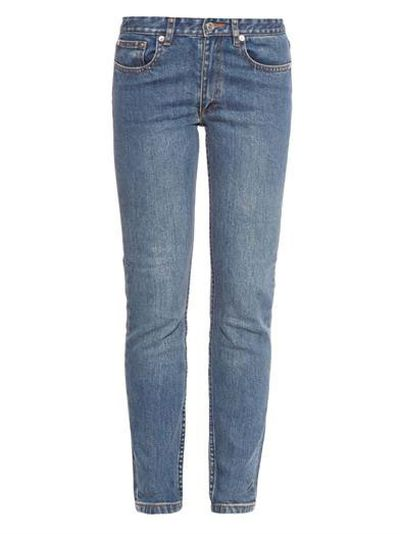 "<a  href="" http:="" ""="""" www.matchesfashion.com="""" product="""" 1001900""=""""> Mouland slim-leg jeans, $198, A.P.C.</a>"
