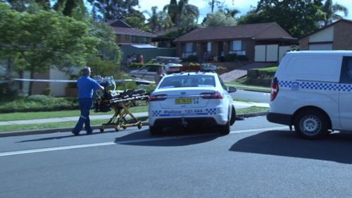 Emergency services at the scene in Rosemeadow. (9NEWS)