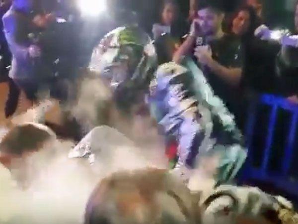 Lorenzo suffers burns at MGP title party