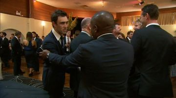 Family and friends have gathered to remember Phillip Hughes at a wake in Macksville. (9NEWS)