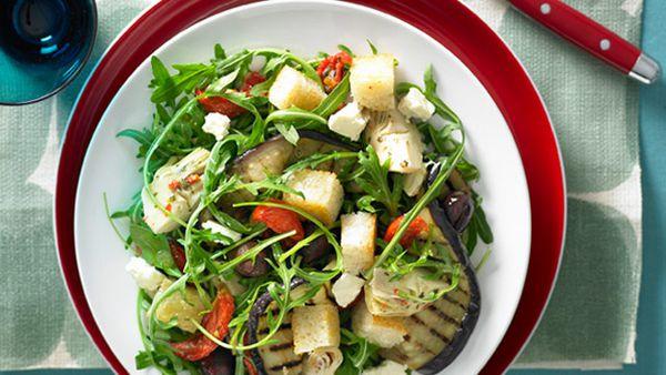 Char-grilled vegetable salad for $9.40