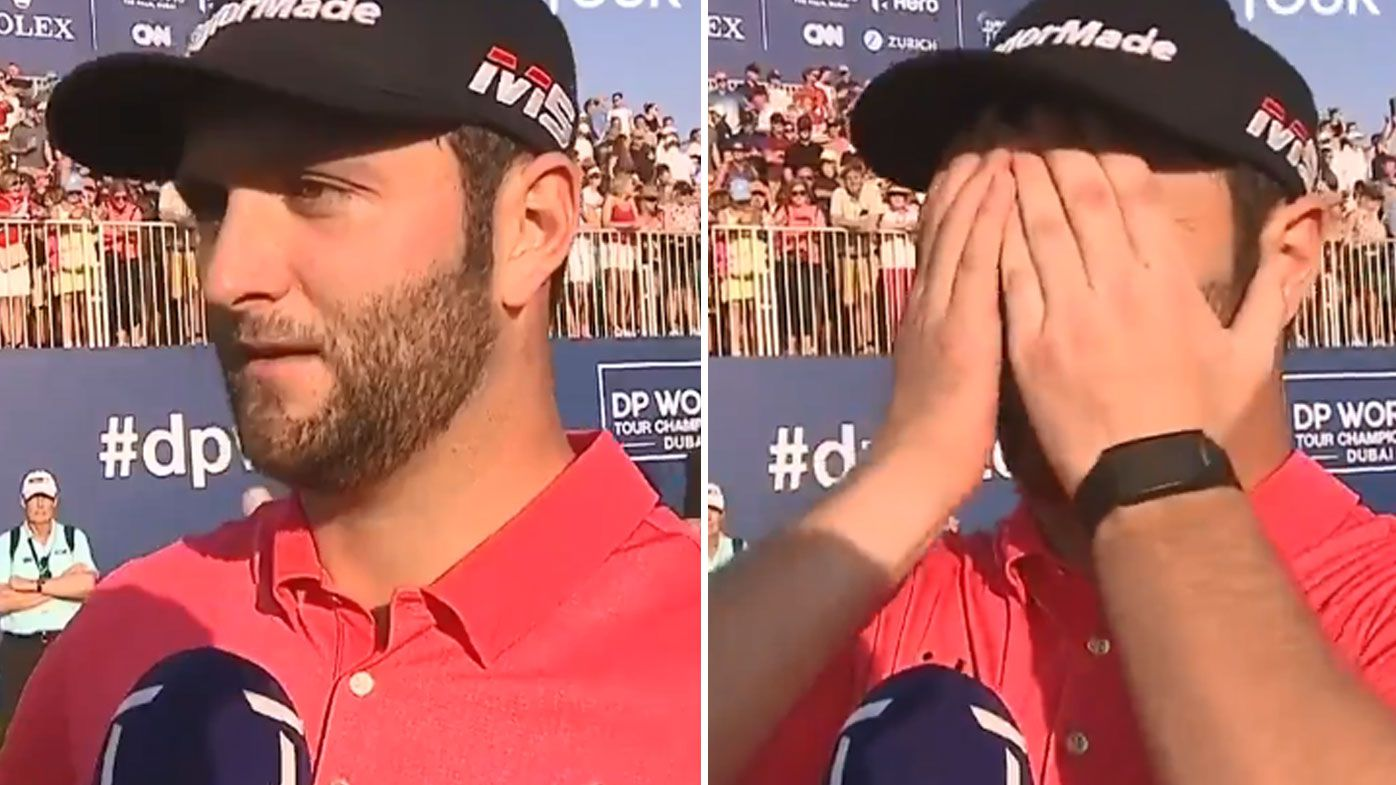 Jon Rahm reacts to achieving rare record