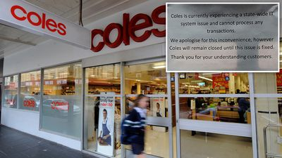 Coles stores reopen after register outage
