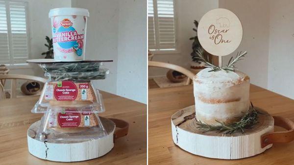 Mum's $12.50 Woolies cake hack praised by critics