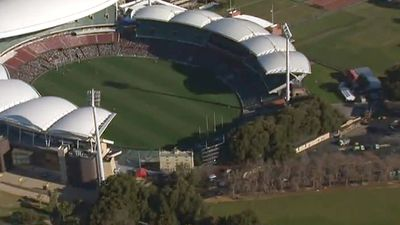 Adelaide was due to play Geelong today in the round 14 clash. (9NEWS)