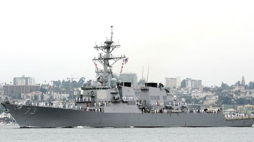 The ships came within 40 m of each other, says the US Navy.