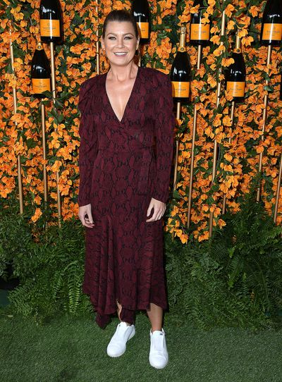 Ellen Pompeo arrives at the 9th Annual Veuve Clicquot Polo Classic event in Los Angeles, October 6, 2018