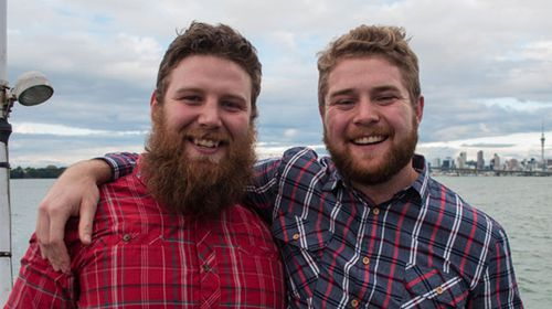 Heterosexual Kiwi mates Matt McCormick, 24, and Travis McIntosh, 23, are getting married. (supplied)