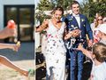 Teacher says 'I do' in front of students who lined the aisle wearing ring pops