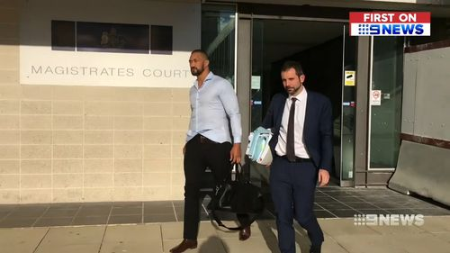 Paea Talakai pleaded guilty to affray over the fight but denies being a member of the Comancheros. Picture: 9NEWS