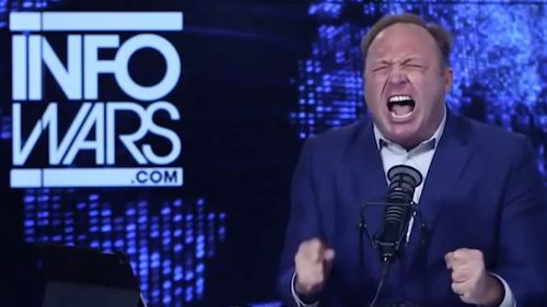Alex Jones perpetuated the conspiracy that the Sandy Hook massacre was a hoax.