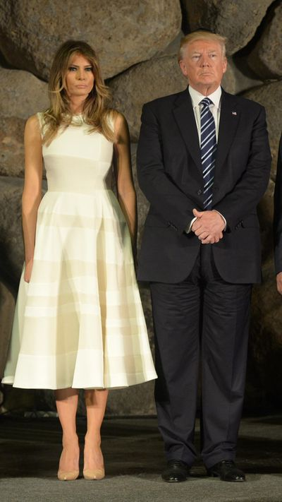 <p>Melania Trump's style is slowly evolving from glamour model to polished professional as she assumes more duties as First Lady of the United States of America. On recent trips to Saudi Arabia and Israel Melania has been relying on white outfits, which can be interpreted as a shade of peace and prosperity.</p> <p>Since Ancient Egyptian times white robes have been favoured by the rich, as they were the only ones able to afford the cleaning bill for pyramid dust.</p> <p>The colour also symbolises purity, something Melania is keen to reinforce following a lawsuit with The Daily Mail who falsely reported that alleged she had once worked as an escort. The Daily Mail apologised and settled the case for a reported $4 million.</p> <p>See Melania's white evolution here. </p> <p> </p>