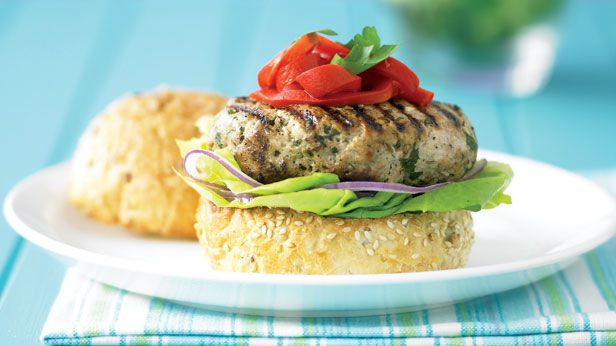 Pork feta and fennel burgers