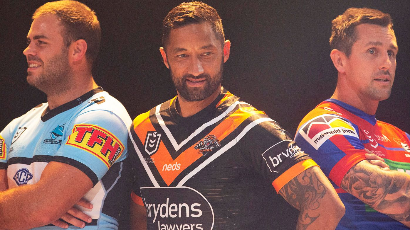 Wade Graham, Benji Marshall and Mitchell Pearce feature at the NRL season launch. (Getty)