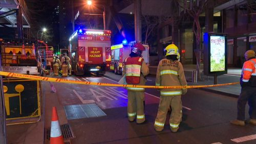 """An exclusion zone was quickly established as """"explosive"""" levels of gas were unleashed. Picture: 9NEWS"""