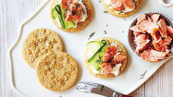 Karen Martini's oat and quinoa crackers