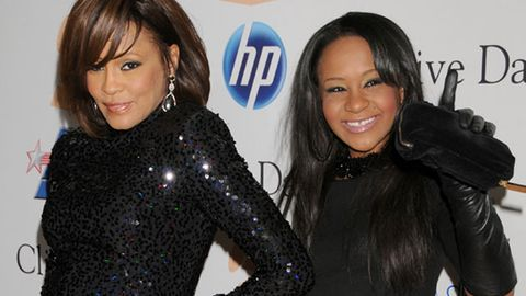Watch: Nervous Bobbi Kristina coaxed into singing mum Whitney Houston's song on TV