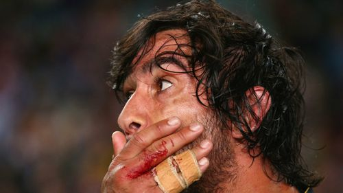 Heartbreak for Cowboys playmaker Jonathan Thurston after the final whistle. (Getty)