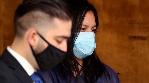 Liliana Carrillo appears with her representative, Deputy Public Defender Brandon Mata.