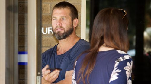 Ben Cousins leaves Armadale Magistrates Court in Perth. (AAP)