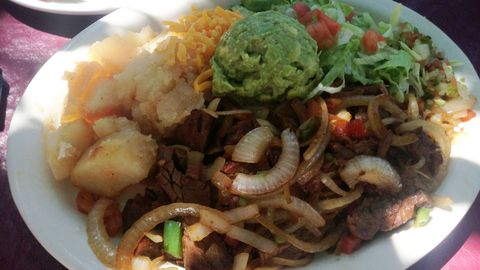 A delicious-looking fajita plate. (AP)