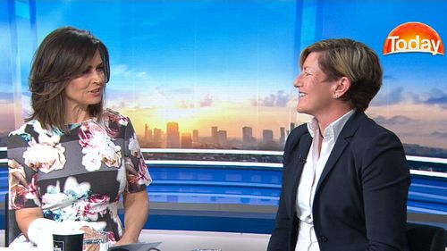 Christine Forster and Lisa Wilkinson on the TODAY Show today. (9NEWS)