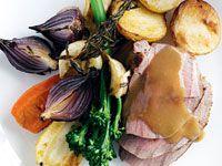 Mid-week roast lamb and vegetables