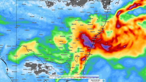 More than a month's worth of rain is likely to cause flooding along central parts of the NSW coast during the middle of this week.