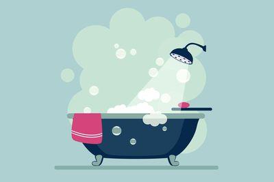 90 minutes before sleep: Take a bath or shower