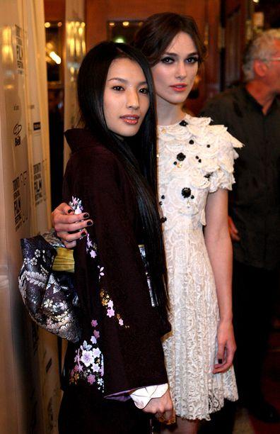 Sei Ashina, Keira Knightley, Silk premiere, Toronto International Film Festival, 2007