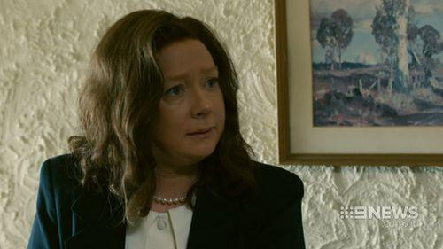 Mandy McElhinney as Gina Rinehart in House of Hancock. (9NEWS)