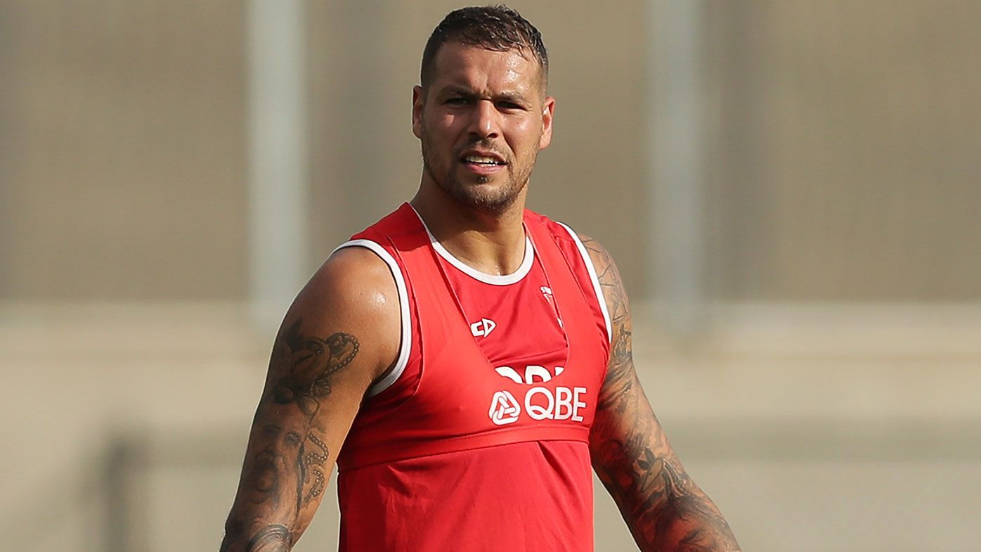 Lance Franklin training in 2020