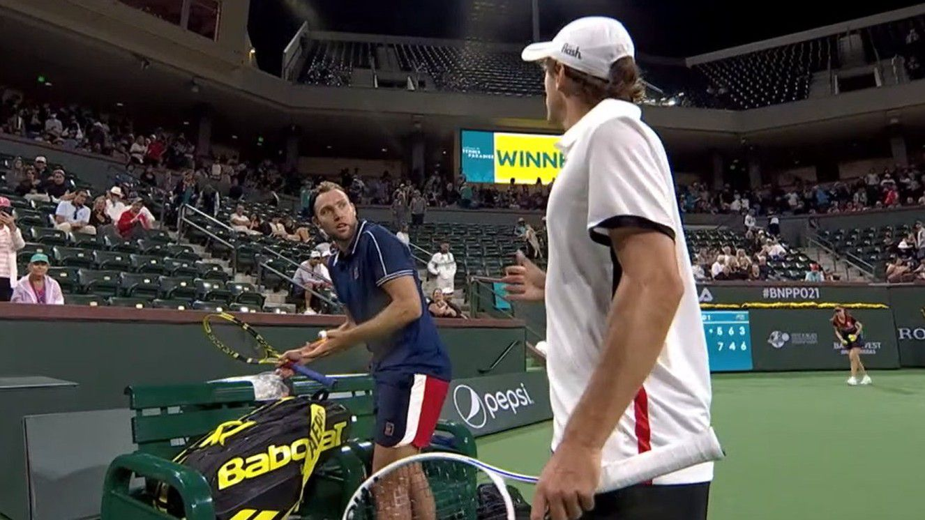 John Millman involved in tense exchange with Jack Sock at Indian Wells