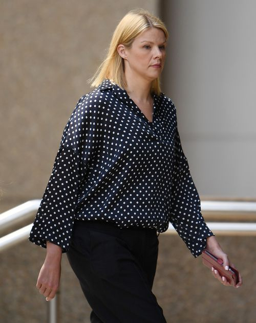 Leanne Russell arrives to the NSW Supreme Court on Wednesday. (AAP)