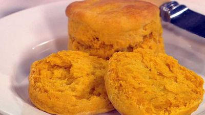 "<a href=""http://kitchen.nine.com.au/2016/05/19/15/00/pumpkin-scones"" target=""_top"">Pumpkin scones</a> recipe"