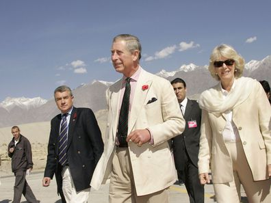 Prince Charles and Camilla, Duchess of Cornwall in Pakistan in 2006