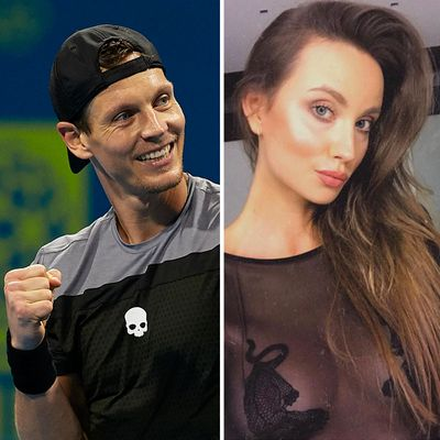 <strong>Tomas Berdych and Ester Berdych</strong>