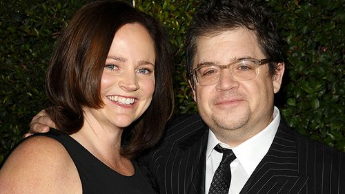 Michelle McNamara (left), pictured with husband Patton Oswalt, died while writing a book on the case. (AP/AAP)
