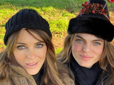 Elizabeth Hurley, Damian Hurley, selfies, Christmas, lookalike, son, mother