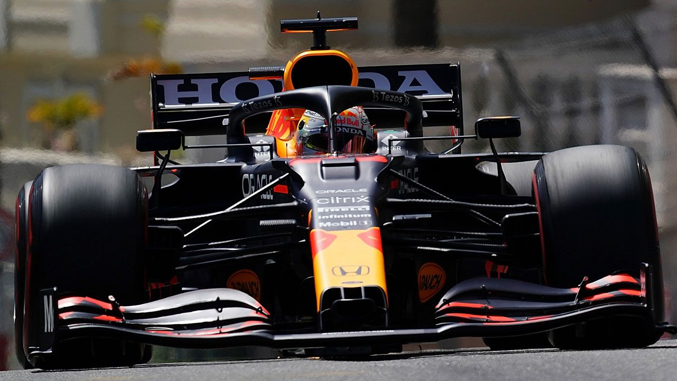 Max Verstappen on the way to victory at the Monaco Grand Prix.