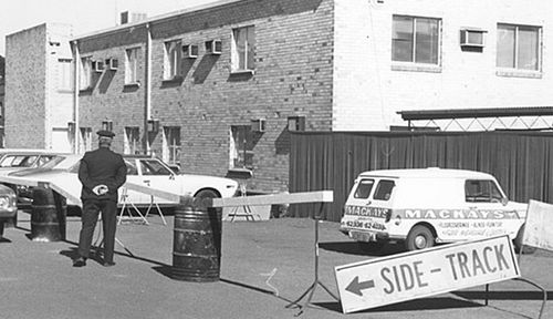 The crime scene around the Griffith hotel pub car park from where Donald Mackay vanished. (Photo: AAP).