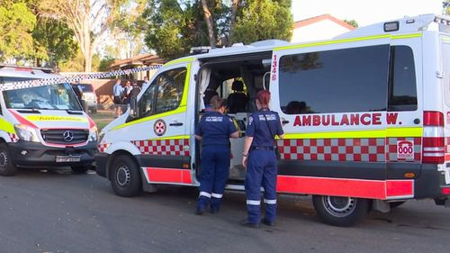 The two officers were treated at the scene before being taken to Westmead Hospital.
