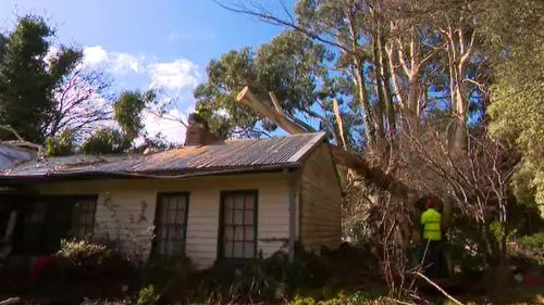 Some homes have been damaged, just weeks after ferocious storms devastated the Dandenong area.