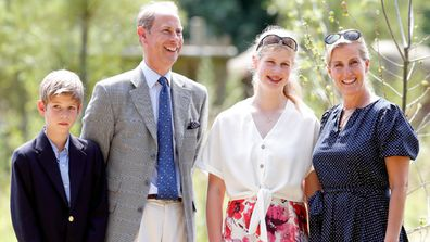 Prince Edward and his wife Sophie with their children Louise and James.