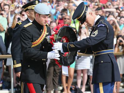 Prince Harry at the Arlington National Cemetery on May 10, 2013.
